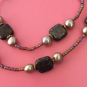 Jewelry - Multi Color Bead and Fresh Water Pearl Necklace